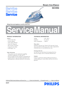 Service Manual Philips Elance GC3006