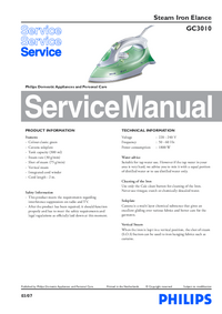 Service Manual Philips Elance GC3010