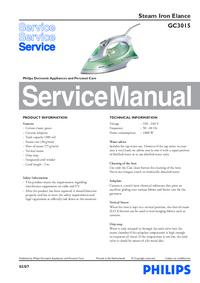 Manual de serviço Philips Elance GC3015