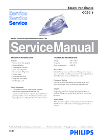 Service Manual Philips Elance GC3016