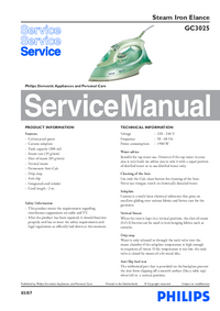 Manual de servicio Philips Elance GC3025