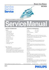 Service Manual Philips Elance GC3030