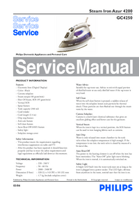 Service Manual Philips Azur 4200 GC4250