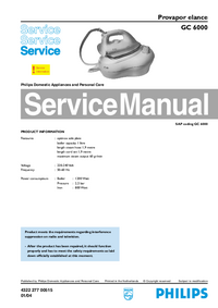 Instrukcja serwisowa Philips Elance GC 6000