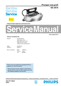 Manual de servicio Philips new profi GC 6010