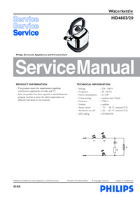 Manual de servicio Philips HD4603/202003-08