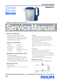Service Manual Philips Comfort HD4642/51