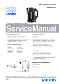 Servicehandboek Philips Essence HD4659/20
