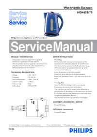 manuel de réparation Philips Essence HD4659/70