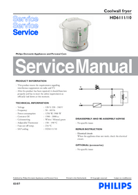 Manual de servicio Philips HD6111/10