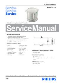 Manuale di servizio Philips HD6111/10