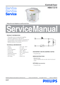 Manual de servicio Philips HD6112/10