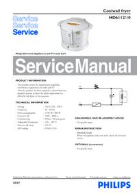manuel de réparation Philips HD6112/10