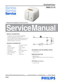 Instrukcja serwisowa Philips HD6121/10
