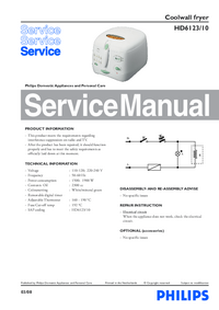 Manual de servicio Philips HD6123/10