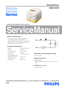 Manual de servicio Philips HD6123/50