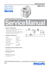 Manual de serviço Philips HD6142/16