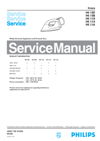 Manual de servicio Philips HI 108