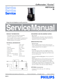 Service Manual Philips Cucina HD7524/26/B
