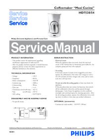 Servicehandboek Philips Maxi Cucina HD7538/54