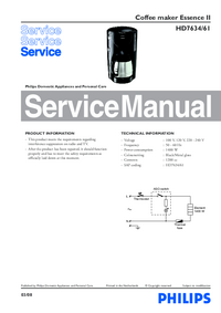 Manual de serviço Philips Essence II HD7634/61