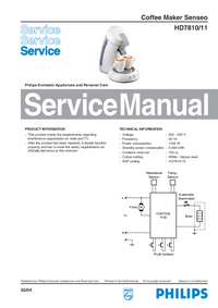 Service Manual Philips Senseo HD7810/11
