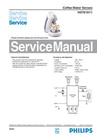 Instrukcja serwisowa Philips Senseo HD7810/11