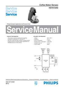 Service Manual Philips Senseo HD7810/60