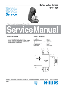 Manual de servicio Philips Senseo HD7810/61