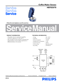 Manuale di servizio Philips Senseo HD7820/70