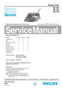Руководство по техническому обслуживанию Philips HI 170
