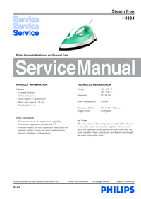 Service Manual Philips HI204