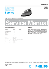 Service Manual Philips HI208