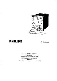 Service and User Manual Philips PM 3220