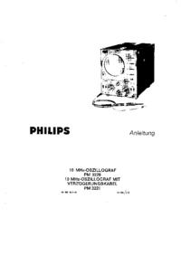 Service-en gebruikershandleiding Philips PM 3220