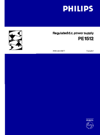 User Manual with schematics Philips PE1512
