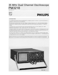 Fiche technique Philips PM3218