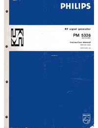 Service and User Manual Philips PM 5326