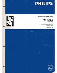 Service et Manuel de l'utilisateur Philips PM 5326
