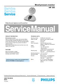Manual de serviço Philips HF 305