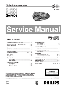 Manual de servicio Philips AZ 1515
