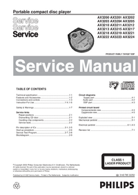 Service Manual Philips AX3218