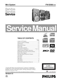 Instrukcja serwisowa Philips FW-D596