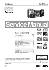 Manual de servicio Philips FW-D750