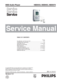 Service Manual Philips HDD050