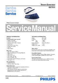 Servicehandboek Philips GC7521