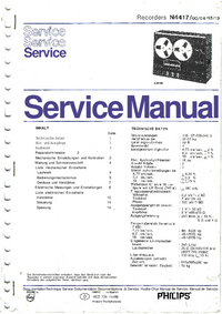 Manual de servicio Philips N4417/19