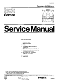 Servicehandboek Philips N4520