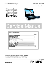 Servicehandboek Philips PET821