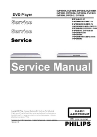 Manual de servicio Philips DVP3026k